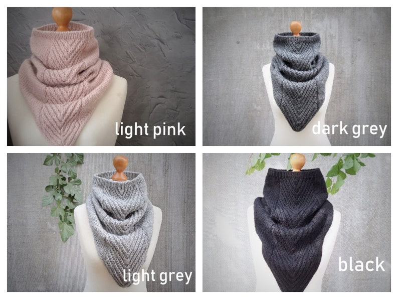 Knit cowboy cowl scarf womens scarves chunky cowl neck warmer winter scarf winter gift for women loop scarf