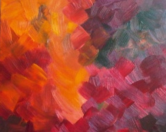 Autumn Acrylic Red, Green, Yellow, Orange
