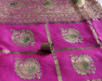 Vintage silk wedding sari from India with upcycling potential