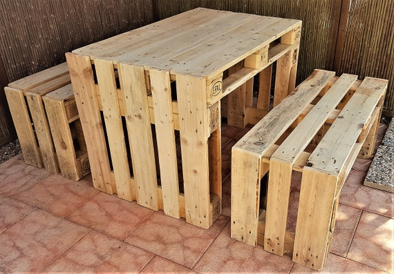 Dining Table Made Of Pallets Garden Table Wood Palettentisch Etsy