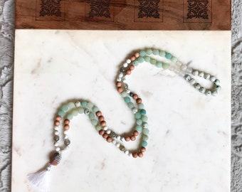 108 Knotted Gemstone Mala - Meditation Mala Beads