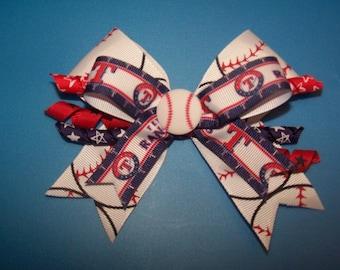 Texas Rangers Small Hair Bow #2