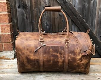 741602e17f Leather duffel bag
