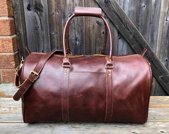 Leather Duffel Bag, Leather Weekender, Brown Leather Travel Bag, Leather  Luggage, Full Grain Leather Overnight Bag, Handmade Leather Duffle ce9994c36e