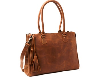 Leather Handbag Women, Brown Leather Shoulder Crossbody bag, Leather Carryall Bag, Handmade Tote Bag, Personalized Tote, Gifts For Women