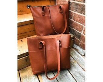 Leather Tote Bag With Zipper b1cbde74e98c9