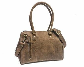 59023fb615 Full Grain Distressed Leather Bag - Leather tote bag - Leather handbag women  - Leather shoulder bag - large leather tote - leather bag women