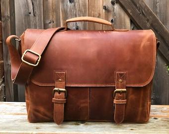Full Grain Leather Messenger Bag ae4099c189540