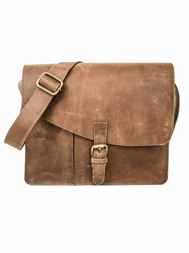 adce2bfe8388 Full Grain Leather Messenger Bag Distressed Leather Bag