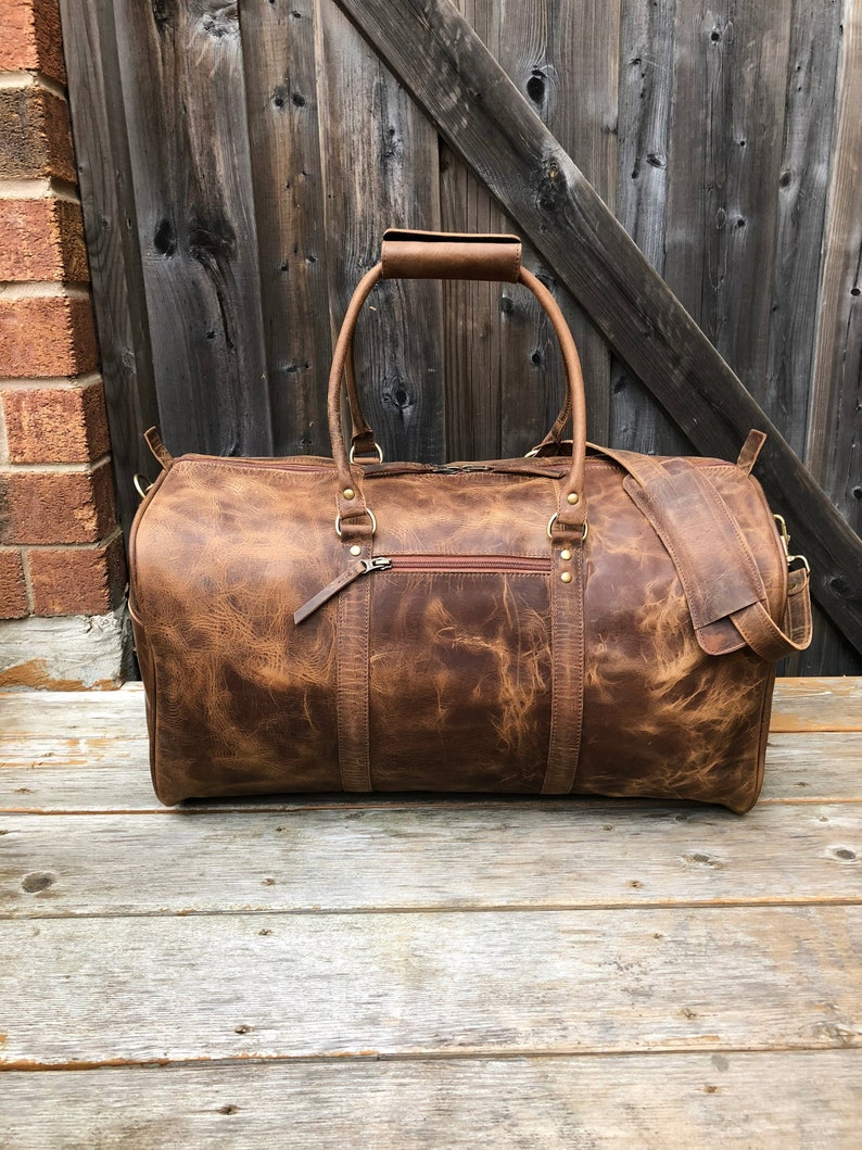 cca6fa4898 Leather Duffel Bag Leather Weekender Distressed Leather