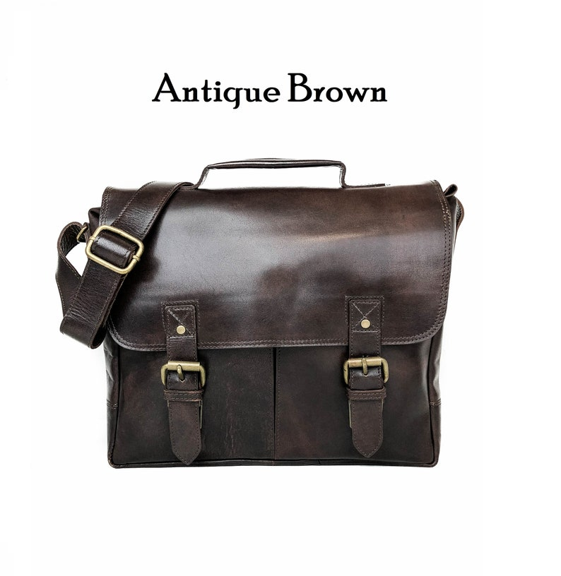 0a8e1a730dae Full Grain Leather Messenger Bag, 14 Inch Leather Briefcase, Brown Leather  Satchel, Personalized Laptop Bag, Gifts For Men, Christmas Gifts
