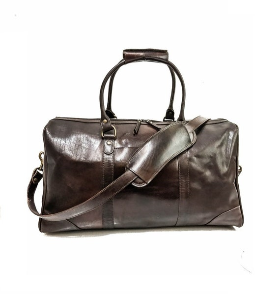 eac030d9ef Leather Duffel Bag Brown Leather Weekender Bag Leather