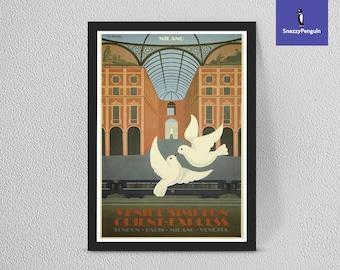Vintage German Fresh Fish  Advertisement  Poster  A3 Print