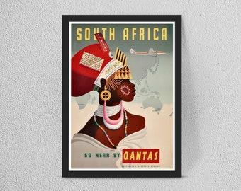Vintage Europe qantas dog Travel Art painting Print Poster For Glass Frames