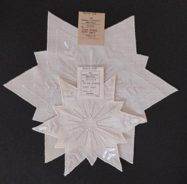 Original Pair of xmas Beautiful Stars - Vintage Original German Super Quality Christmas Cloths