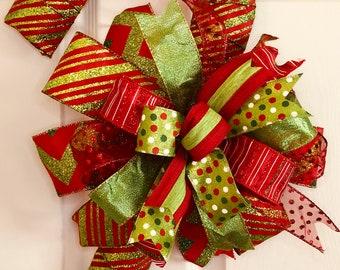 Christmas Decor, Candy Cane Door Decor, Candy Cane Decor, Christmas Bow, Candy Cane Bow, Wall Decor, Wall Art, Christmas, Holidays, Holiday