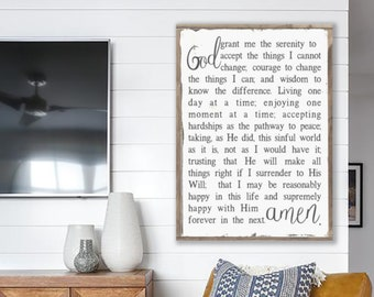 God Grant Me The Serenity, Serenity Prayer, Prayer Sign, Inspirational Signs, Inspirational Quotes, Religious Signs, Christian Signs