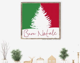 Buon Natale Italian Christmas Wall Art Signs Decorations Decor Holiday