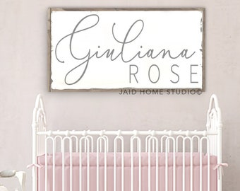 Charmant Nursery Name Sign, Girl Nursery Decor, Personalized Nursery Decor,  Personalized Nursery Sign, Baby Girl Nursery, Nursery Sign, Nursery Decor