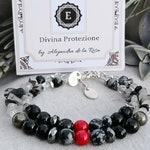 Negative Energy Protection Bracelet, Psychic Attack Shield Bracelet, EMF Protection Bracelet, Coral Amulet Jewelry, Black Tourmaline Jewelry