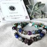 Spiritual Connection Awakening Bracelet - Anxiety Stress Relief Bracelet - Meditation Chakra Intention Bracelet - Gemstone Healing Jewelry