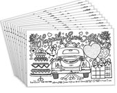 Wedding Activity Placemats for Kids (Pack of 12 Wedding Placemats) | Coloring Activity Paper Mats for Kids Table | Disposable Bulk Set