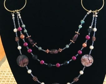 Kaleidoscope Multi Strand Necklace
