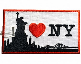 I LOVE NEW-YORK Embroidered Luggage Tag