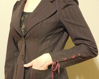Nanette Lepore Vintage Ribbon Cuff Blazer