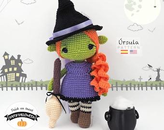 Amigurumi Halloween Witch / Tarturumies Crochet Pattern PDF • Úrsula The Witch