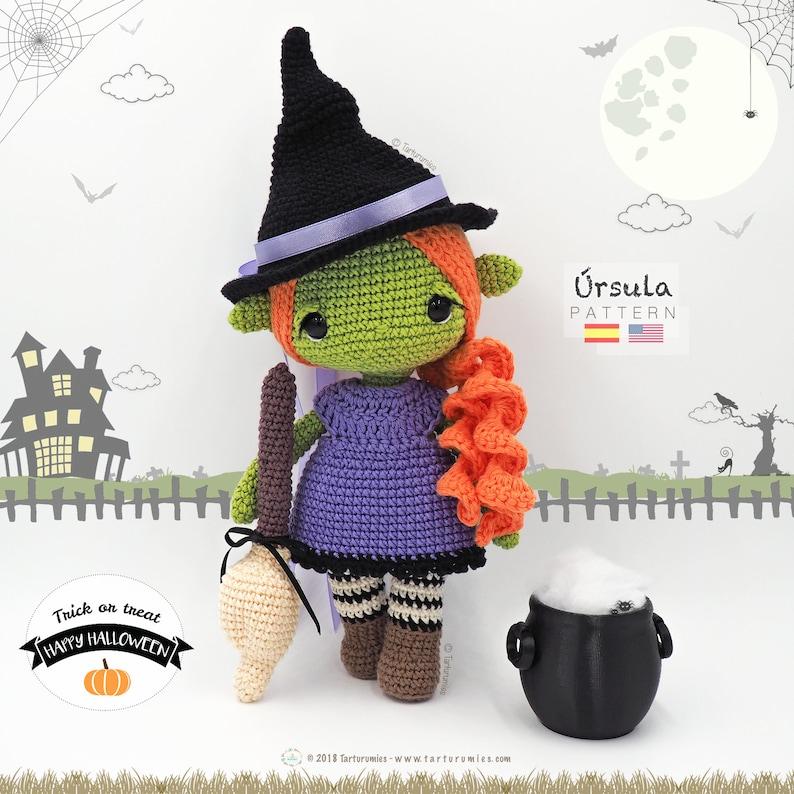 Amigurumi Halloween Witch / Tarturumies Crochet Pattern PDF  image 0