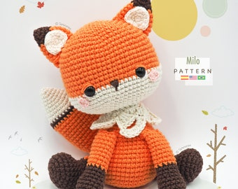 Amigurumi Fox / Tarturumies Crochet Pattern PDF • Milo the Fox