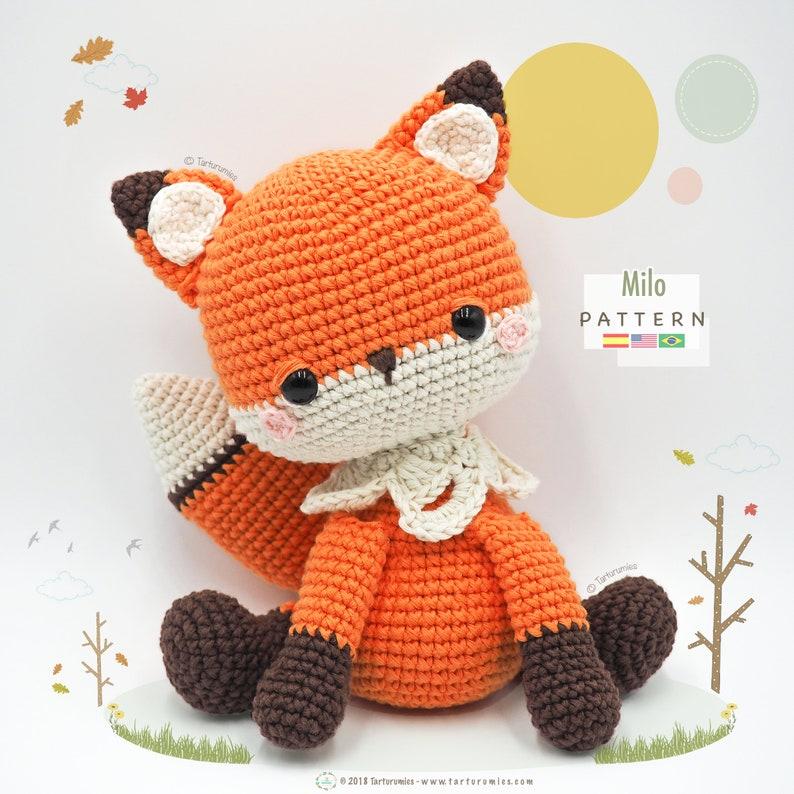 Amigurumi Fox / Tarturumies Crochet Pattern PDF  Milo the Fox image 0