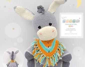 Amigurumi Little Donkey Eddie / Tarturumies Crochet Pattern PDF • (Spanish - English) •