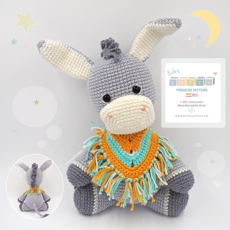 Amigurumi Little Donkey Eddie / Tarturumies Crochet Pattern image 0