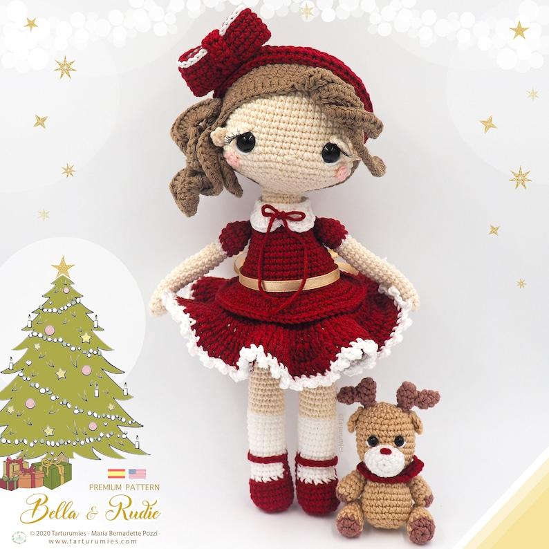 Christmas Doll Bella and Rudie the Reindeer  Tarturumies image 0