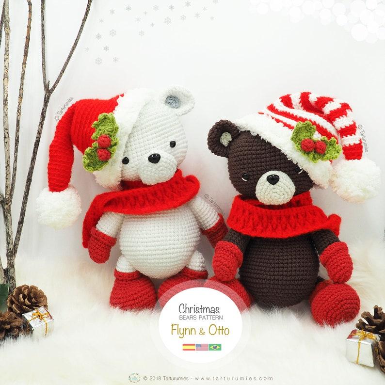 Amigurumi Christmas Bears / Tarturumies Crochet Pattern PDF  image 0