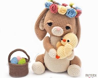 Amigurumi Bunny / Tarturumies Crochet Pattern PDF • Easter Bunny Alaria and Galin Chick