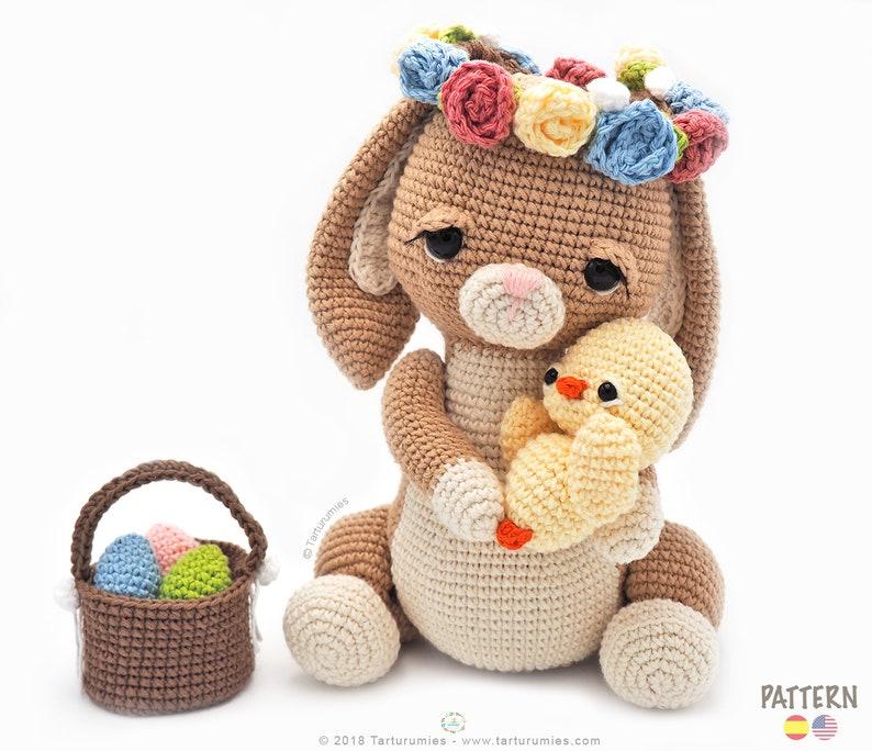 4e65147bf Patrón de crochet / Amigurumi Pascua La Coneja Alaria y Galin | Etsy