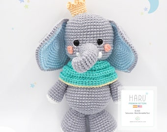 Amigurumi Little Elephant Haru / Tarturumies Crochet Pattern PDF • (Spanish - English) •