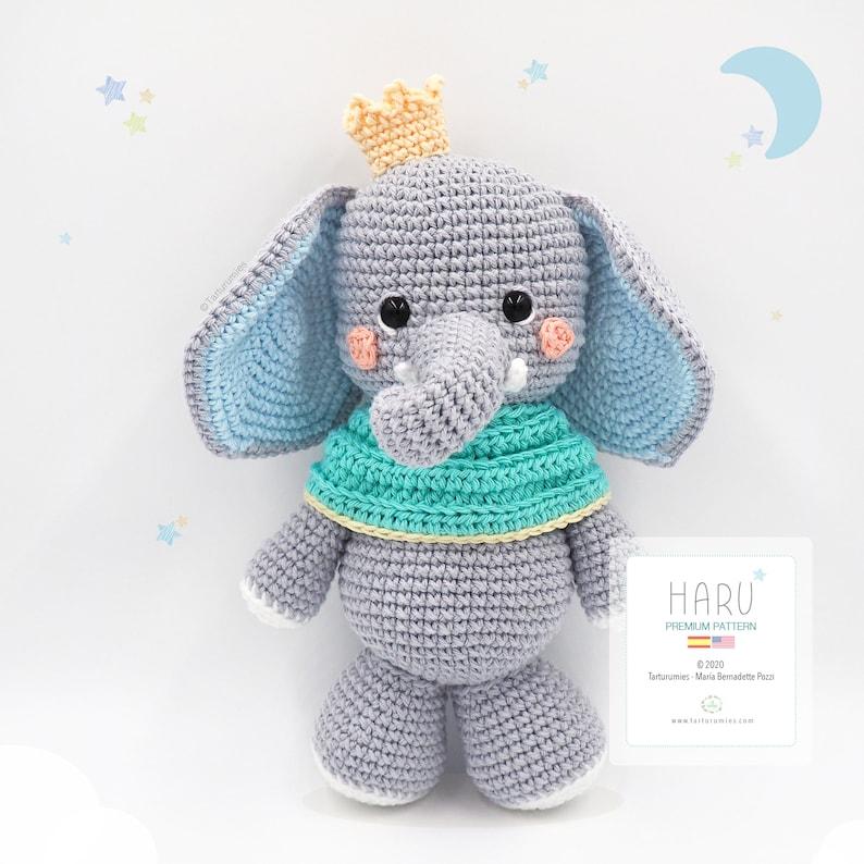 Amigurumi Little Elephant Haru / Tarturumies Crochet Pattern image 0