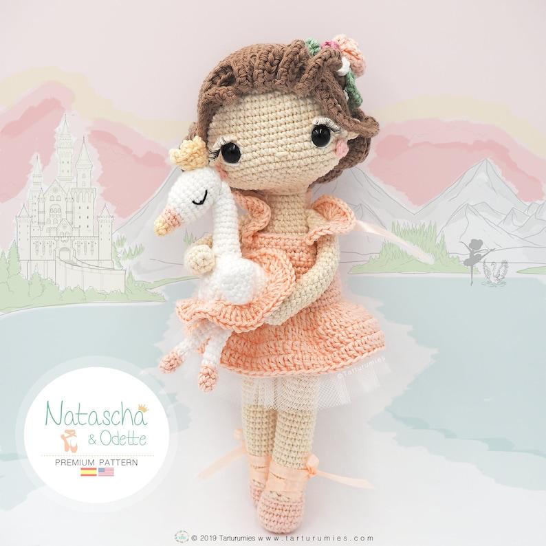 Amigurumi Ballerina Doll / Tarturumies Crochet Pattern PDF  image 0