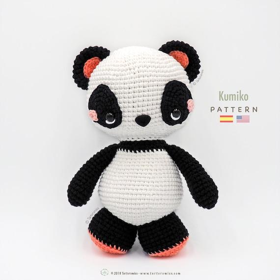 Patrón de crochet / Amigurumi Panda Kumiko Tarturumies | Etsy
