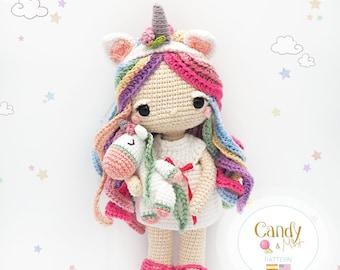 Amigurumi Unicorn Doll / Tarturumies Crochet Pattern PDF • Candy & Mint