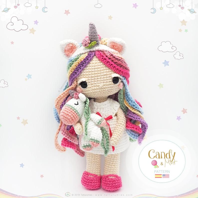 Amigurumi Unicorn Doll / Tarturumies Crochet Pattern PDF  image 0
