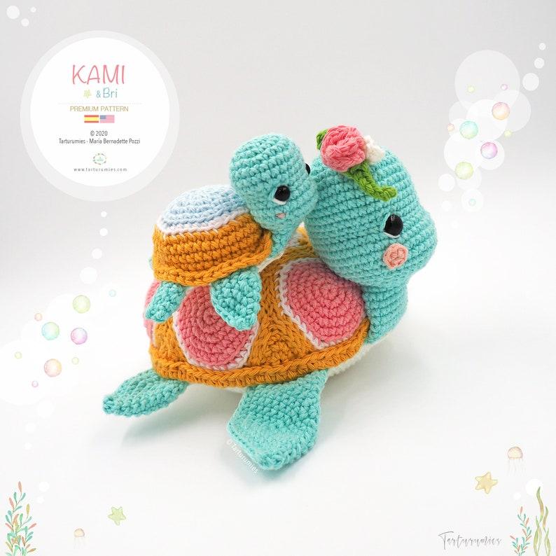 Amigurumi Sea Turtles Kami & Bri / Tarturumies Crochet Pattern image 0