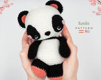 Amigurumi Panda / Tarturumies Crochet Pattern PDF • Kumiko the Panda