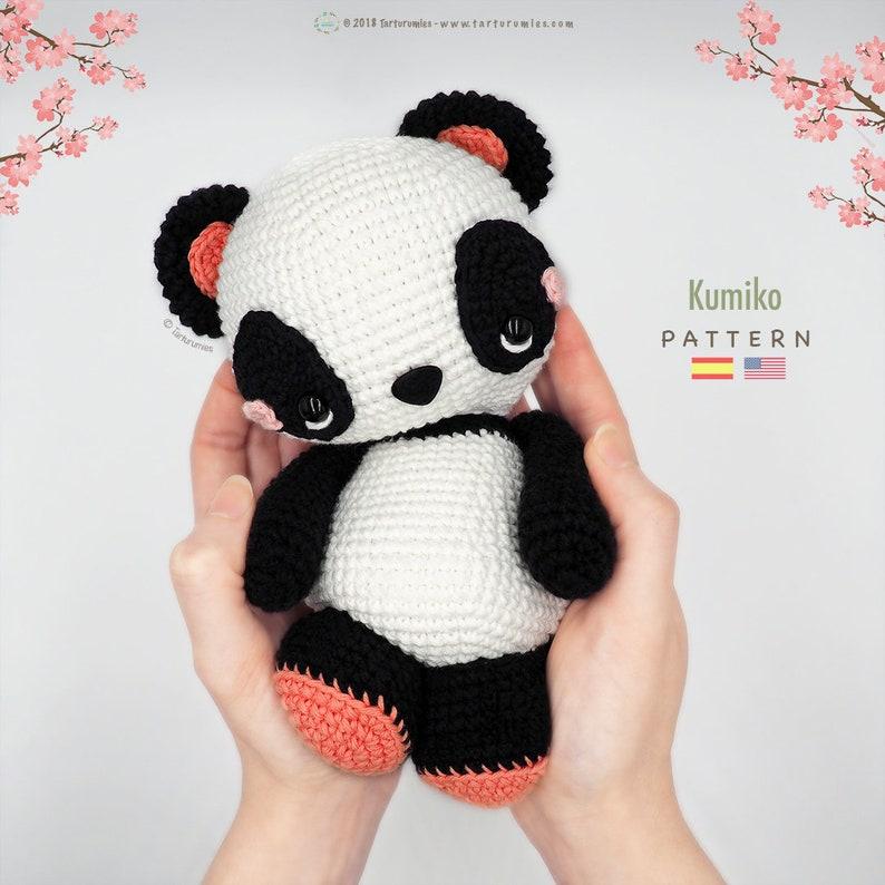 Amigurumi Panda / Tarturumies Crochet Pattern PDF  Kumiko the image 0