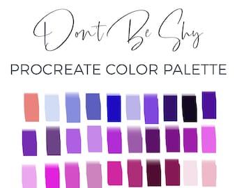 Procreate Color Palette, Procreate Brush, 30 Color Swatches, Digital Color Palette, iPad Lettering Illustration, Graphic Design, Digital Art