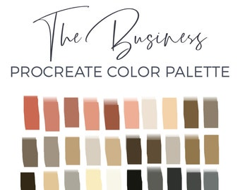 Procreate Color Palette, Procreate Brush, 30 Color Swatches, Digital Color Palette, iPad Lettering Tools, Graphic Design, Digital Art